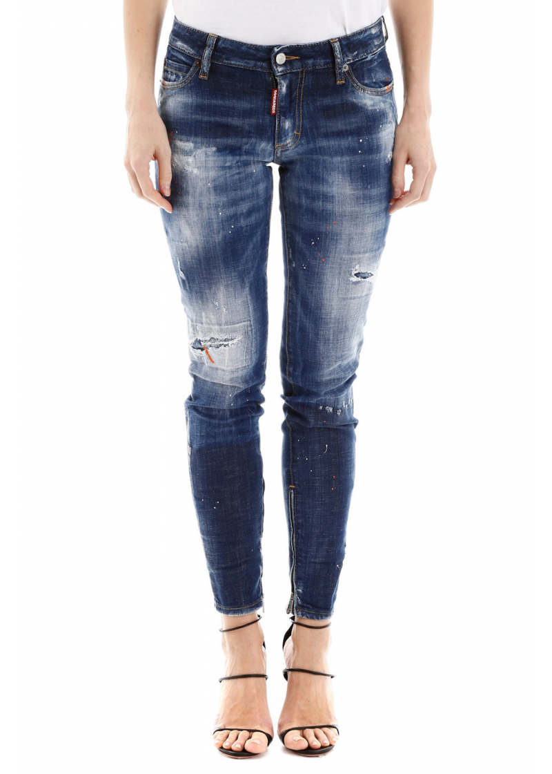 Jeans With Zipped Cuffs - 1