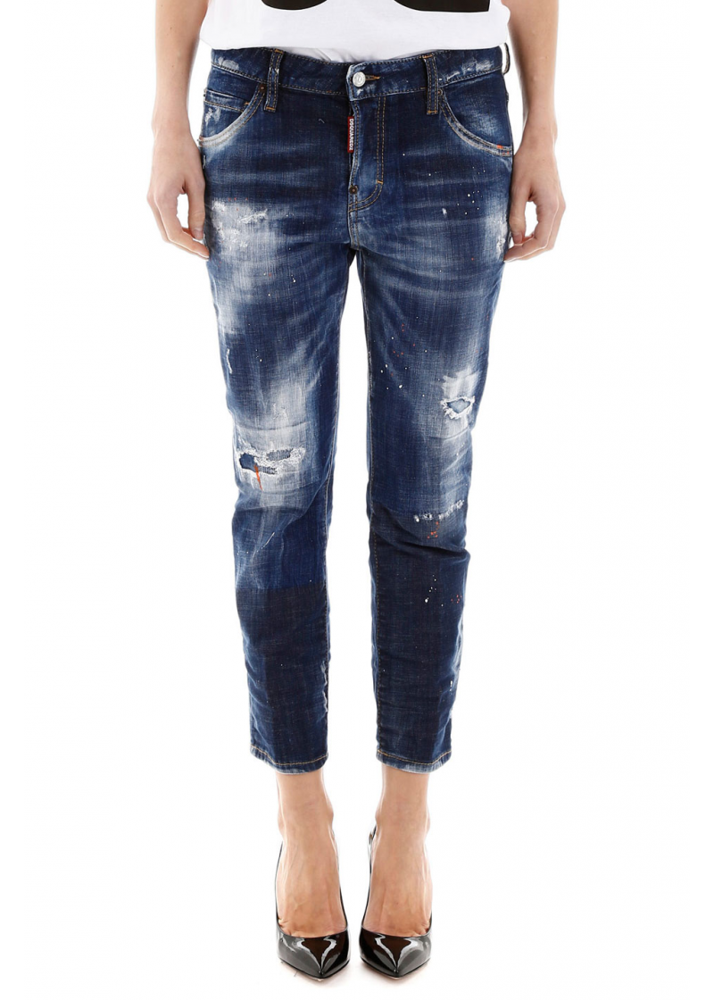 Cool Girl Cropped Jeans - 1