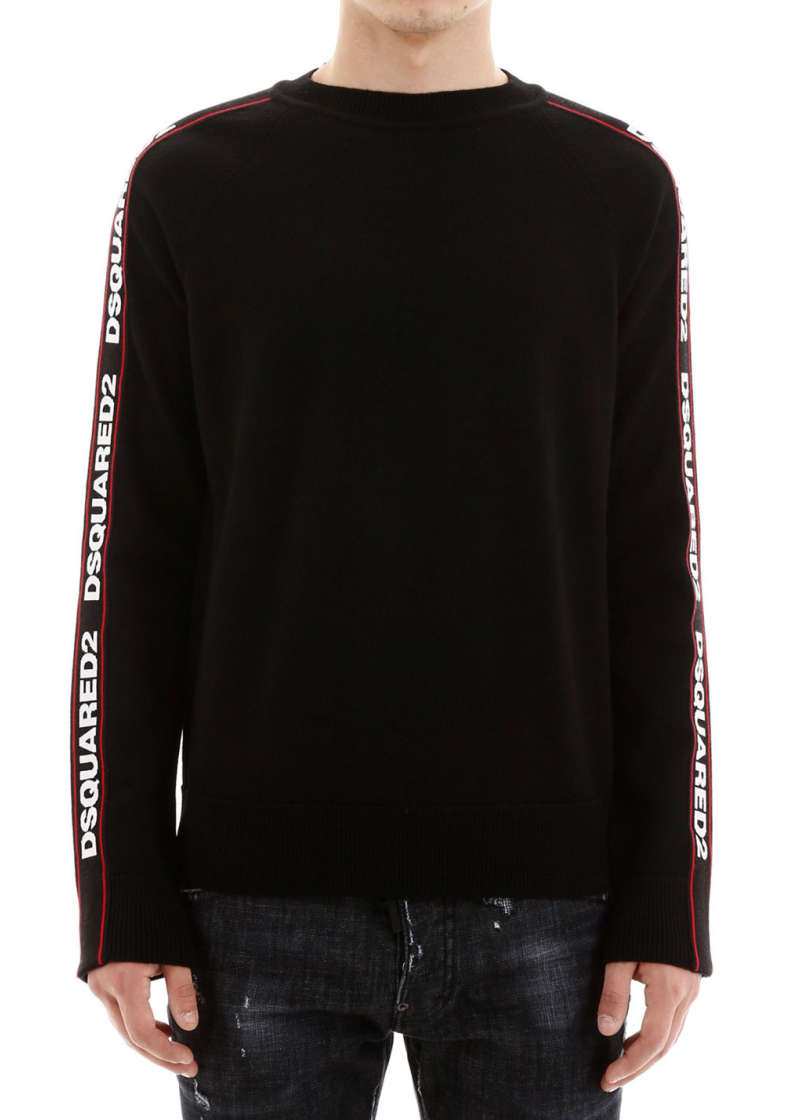 Pullover With Logo Bands - 1
