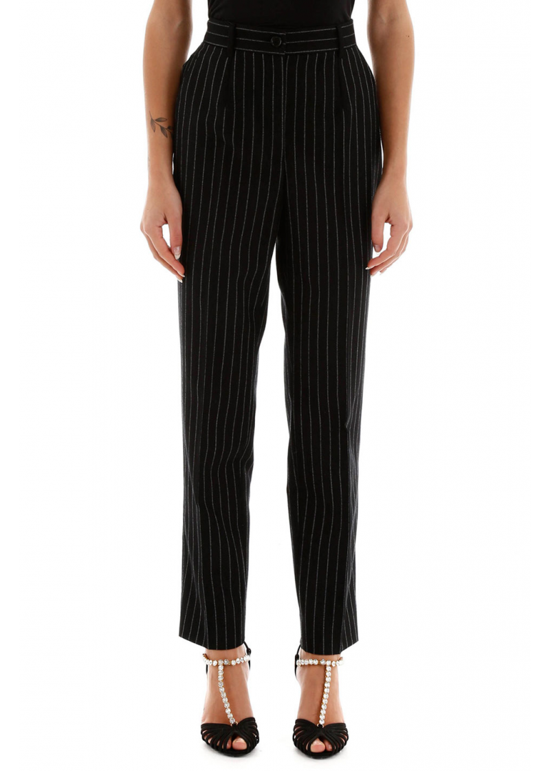 Pinstriped Trousers - 1